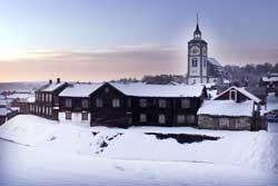 På Røros er det minus førti grader. (Foto: Gorm Kallestad /   SCANPIX)