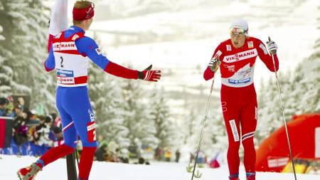 Lukas Bauer, Petter Northug (Foto: Junge,   Heiko/Scanpix)