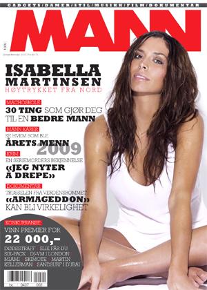 COVERPIKE: Slik fremstår TV 2s værdame Isabella Martinsen på det nye coveret av bladet MANN.