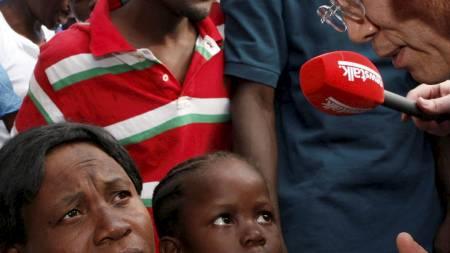 FNs generalsekretær Ban Ki-moon besøkte Haiti søndag. (Foto:   HO/REUTERS)