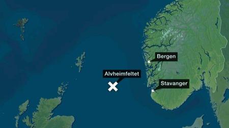 Alvheim-feltet ligger ved grensen til britisk sektor i Nordsjøen.