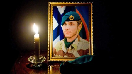 DREPT I TJENESTE: Claes Joachim Olsson (22) hadde tjenestegjort sammen med stabiliseringsstyrken i Afghanistan siden desember. (Foto: Scanpix)