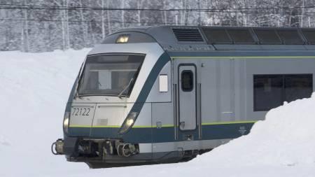 KAOS: Nok en gang skaper   været trøbbel for togfolket i Oslo-området. (Foto: Holm, Morten/Scanpix)