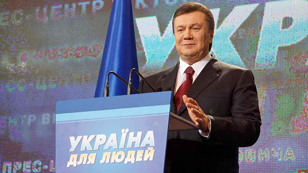 Den tidligere kommunistleder- og mekaniker Viktor Janukovitsj (59) blir sannsynlig Ukrainas neste president. (Foto: Reuters)
