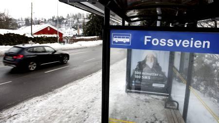 BORTFØRT: 26 år gamle Faiza Ashraf skal ha blitt kidnappet i nærheten av denne bussholdeplassen i Bærum. (Foto: Gorm Kallestad/Scanpix)