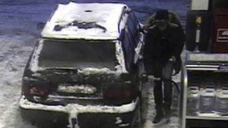 TIRSDAG 2: Det samme gjorde denne sjåføren torsdag i forrgie uke. FOTO: OVERVÅKINGSKAMERA