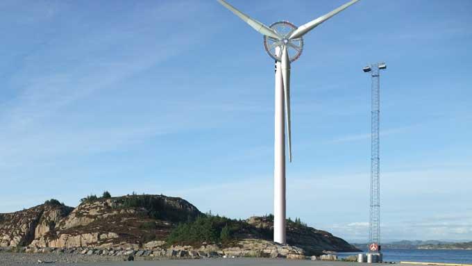 GIGANTISK: Vindmøllen fra Sway har en rotordiameter på 145 meter, og en effekt på 10 MW.  (Foto: SWAY)