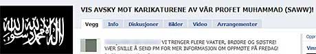 Facebookgruppen som mobiliserer til fredagens demonstrasjon   var fredag stengt, opplyser arrangørene til TV 2. (Foto: Skjermdump)