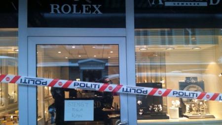 RAN: En urmaker i Kristiansands gågate ble ranet tirsdag formiddag.  (Foto: Trond Solvang/TV 2)