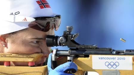 BOMMET FIRE GANGER: Ann Kristin Aafedt Flatland fikk det ikke til å stemme på standplass. (Foto: DON EMMERT/AFP)