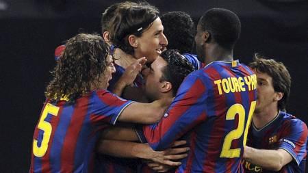 Zlatans sikret Barca et godt utgangspunkt foran dagens returoppgjør. (Foto: TORSTEN SILZ/AFP)
