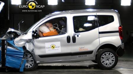 Citroën Nemo var nest dårligste bil hos Euro NCAP i fjor - med tre av fem stjerner totalt. (Foto: EuroNCAP)