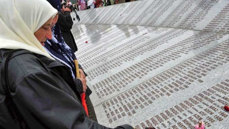 Srebrenica minnesmerke (Foto: AP)