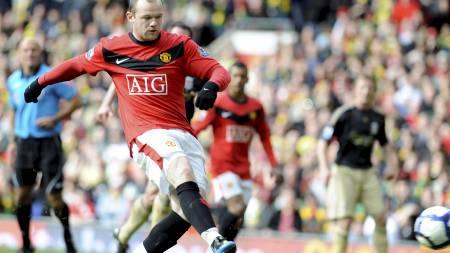 SCORET: Wayne Rooney. (Foto: RUSSELL CHEYNE/REUTERS)