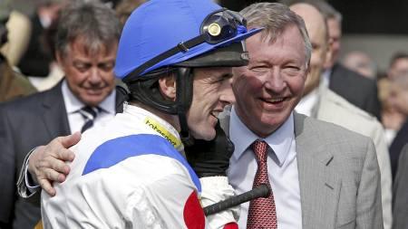 Ruby Walsh og Sir Alex Ferguson (Foto: Peter Byrne/AP)