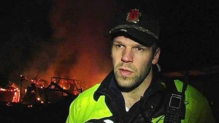 Innsatsleder Thomas Breivoll ved Romerike politidistrikt. (Foto: Benjamin Bakken/ TV 2)