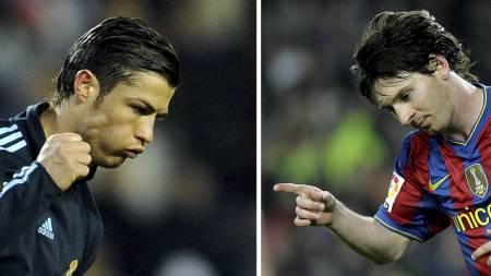 EL CLÁSICO: Barcelona vs. Real Madrid, Messi vs. Ronaldo. (Foto: DANI POZO / JOSE LAGO/AFP)