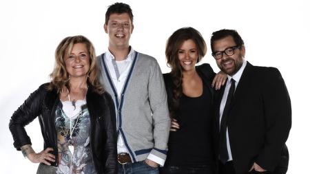 X Factor-juryen 2010: Elisabeth Andreassen, Jan Fredrik Karlsen, Marion Ravn, Klaus Sonstad (Foto: Bjørgli&Bergersen)