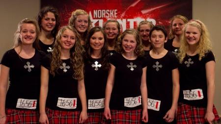 Celtic Inspiration Dance Company, norske talenter (Foto: Thomas Reisæter / TV 2)