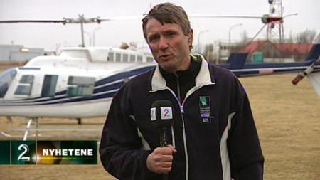 Reporter Finn Ove Hågensen på Island. (Foto: TV 2)