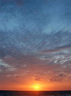 Det blir flotte solnedganger fremover! (Foto: Ronald Toppe)