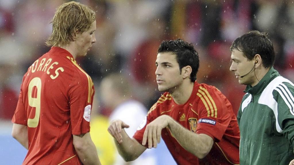 Torres, Fabregas (Foto: Martin Meissner/AP)