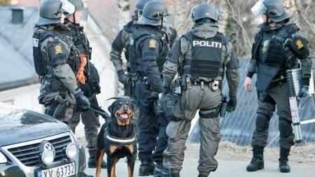 Bevæpnet politi politidrap Mo i Rana (Foto: Scanpix)