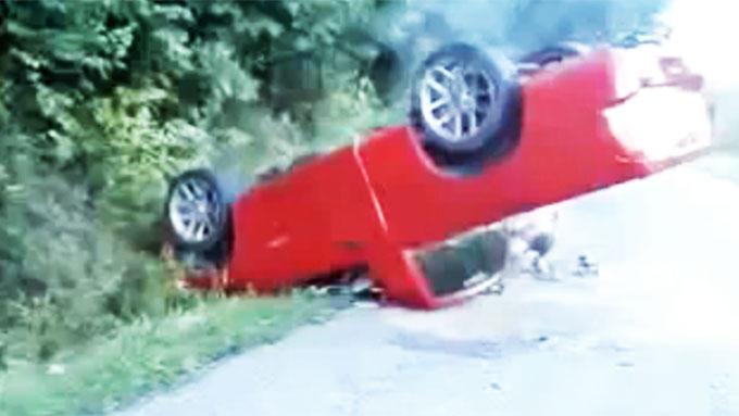 ...og her endte ferden - på taket! Bilde fra www.youtube.com