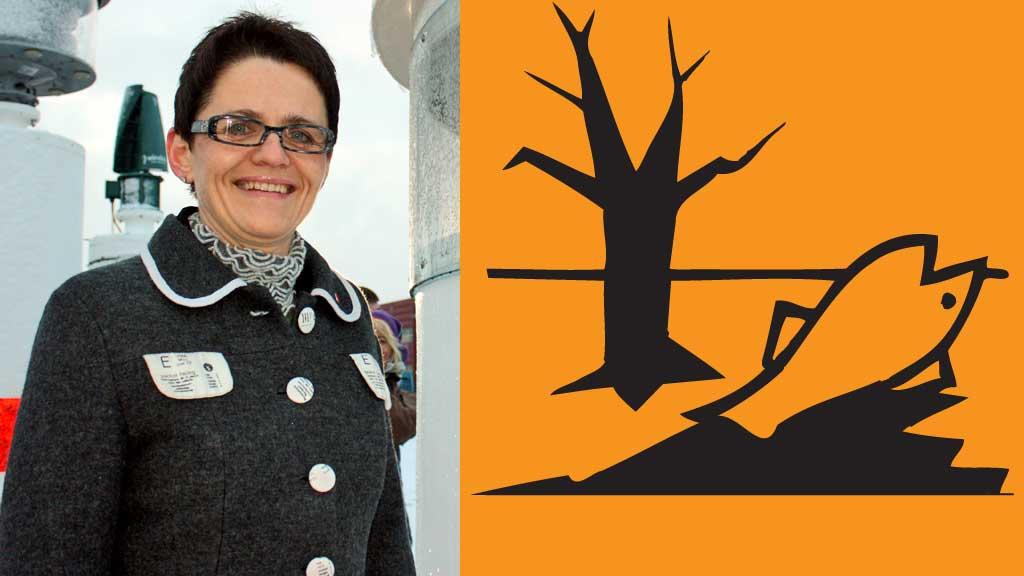 Fiskeriminister Lisbeth Berg-Hansen og miljøskadelig merking (Foto: Scanpix/Klif)