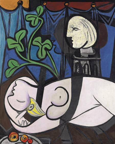 SATTE REKORD: «Nu au Plateau de Sculpteur» («Naken, grønt løv og byste») av Pablo Picasso.