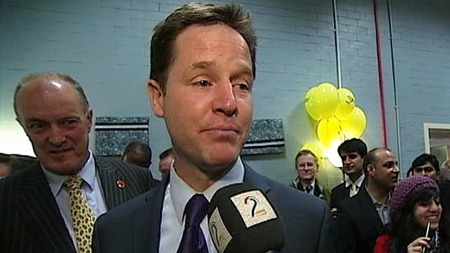 Leder av Liberaldemokratene Nick Clegg. (Foto: Anders Hereid)