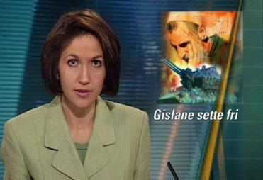 ANKERKVINNE: Siri Lill Mannes startet som nyhetsanker for kveldssendingene på TV 2 i 1999. Her fra en av de første sendingene i januar samme år. (Foto: TV 2)
