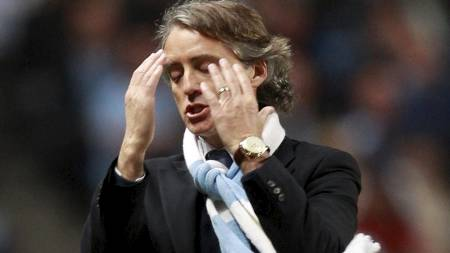 Manchester City's manager Roberto Mancini (Foto: EDDIE KEOGH/Reuters)