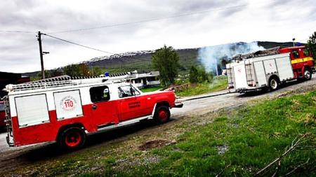 Hvordan starte brannbil uten startmotor? Null problem.  (Foto: Privat)