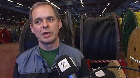 ADVARER MOT FLERE RENTEØKNINGER: Tillitsvalgt Roy Hagen ved Nexans. (Foto: Bjørn Erik Rygg Lunde)