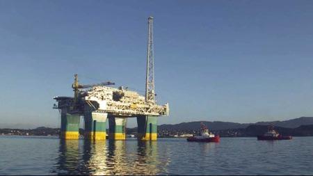 Gjøa-plattformen utenfor Stord. En av de få nye norske oljeinnstallasjoner de siste årene. (Foto: Tommy Aase/TV 2)