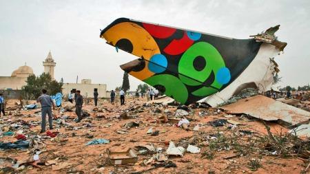 Flyhale Afriqiyah Airways Flyulykke Libya (Foto:   AP)
