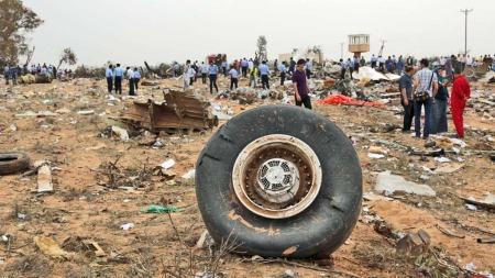Flyhjul Afriqiyah Airways Flyulykke Libya (Foto: AP)