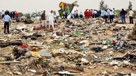 Vrakrester Afriqiyah Airways   Flyulykke Libya (Foto: Reuters)