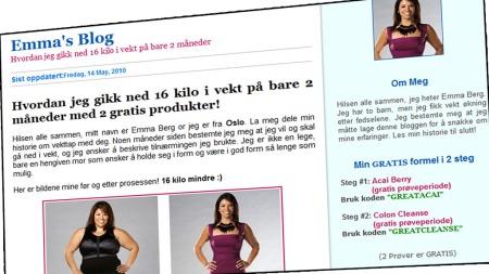 emmasblog   (Foto: Faksimile emmadietstory.com)