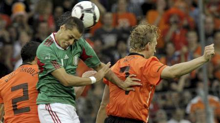Javier Hernandez (Foto: THOMAS KIENZLE/Afp)