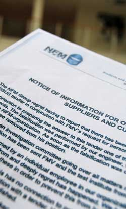 BEKLAGER JUKS: I et brev beklager NFM-gruppen testjukset med sikkerhetsvestene overfor sine kunder. (Foto: Kjell Persen)