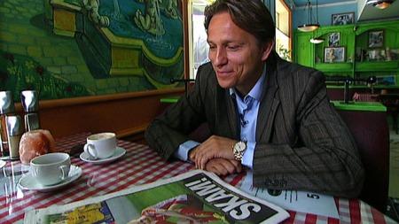 «SKAM»: - Vi må tåle en slik forside, men det burde vært bilde av meg, ikke Huseklepp, sier Steinar Nilsen. (Foto: TV 2)