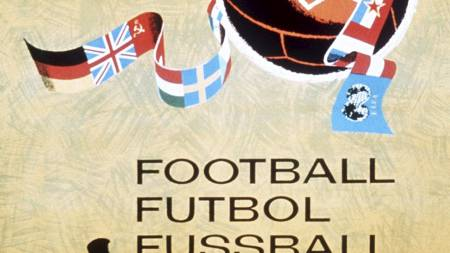 Official poster of the VI Football World Championship that took place in Sweden in 1958. (Foto: Scanpix/AFP)