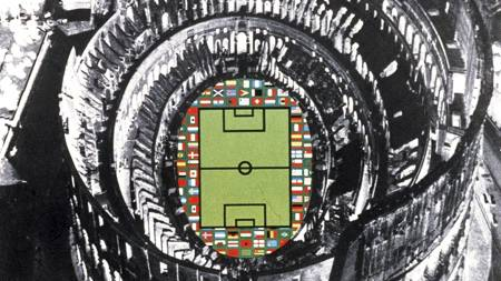 Official poster of the 1990 FIFA World Cup that took place in Italy. (Foto: Scanpix/AFP)