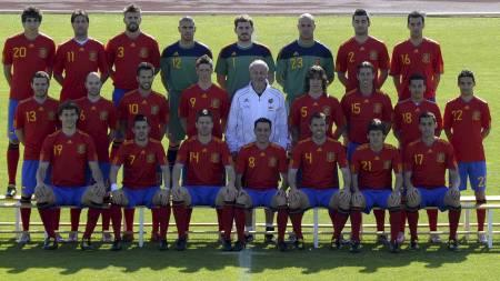 MEST VERDT: Den spanske landslagstroppen er VMs mest verdifulle,   ifølge Transfermarkt.de (Foto: LLUIS GENE/Afp)
