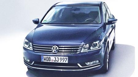 Det første bildet av nye VW Passat. Dette skal være fra en tysk brosjyre og har lekket ut på Internett.