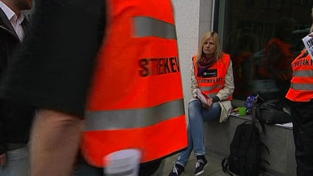 LANGVARIG STREIK: Ingen tror på noen snarlig løsning i kommunestreiken.