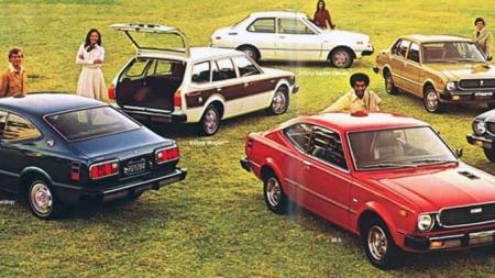Noen av Toyota Corollas 1976 modeller
