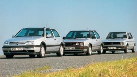 VW Golf - de tre første generasjonene